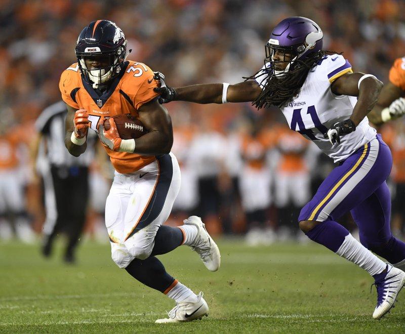 sports shoes e8596 6fe18 Broncos make rookie Royce Freeman starting running back