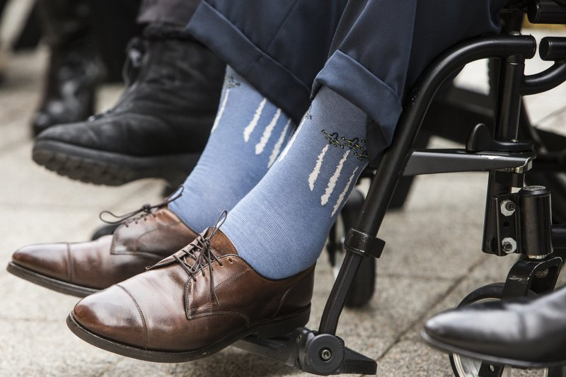 4e8bb281a Not just a fashion statement: Bush's socks spoke volumes