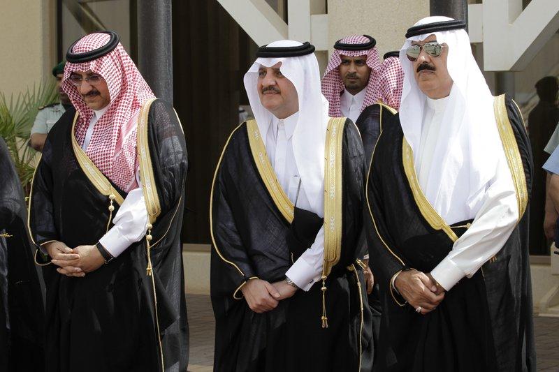 Mohammed bin Nayef, Saud bin Nayef, Miteb bin Abdul