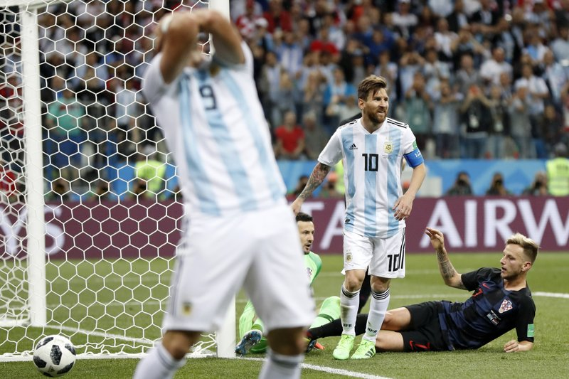 d731d2547 The Latest: Argentina collapses vs. Croatia, could go home