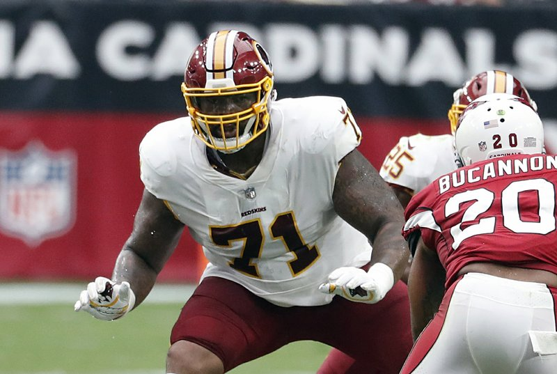 new concept 6c1a4 96a7a Redskins' offensive line living up to Hogs 2.0 nickname