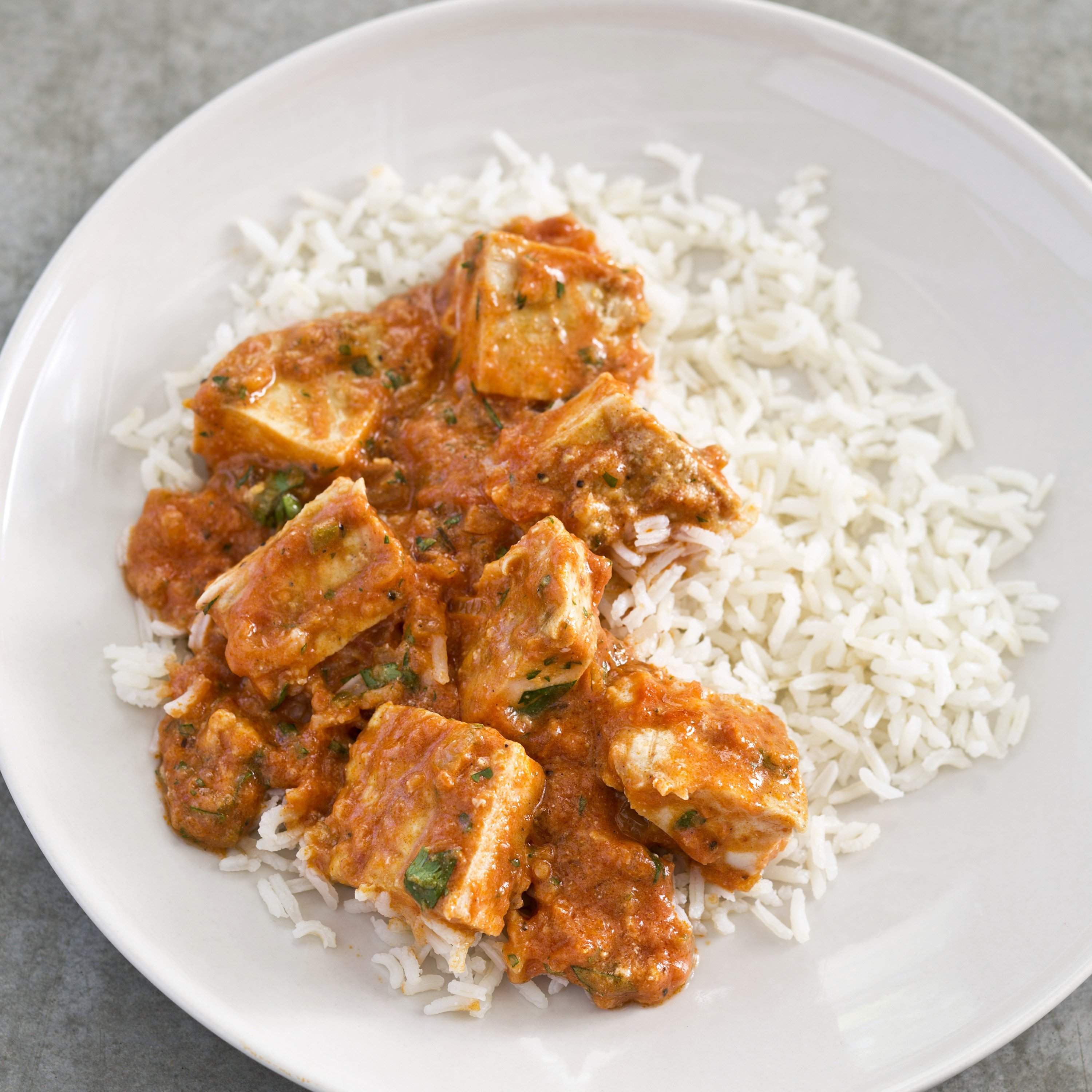 A simple chicken tikka masala that's neither mushy nor dry