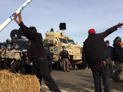 Officials Move to Force Protesters from ND Camp