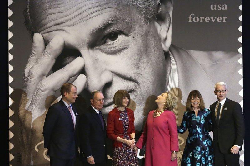 Alexander Bolen, Michael Bloomberg, Anna Wontour, Hillary Clinton, Janice Walker, Anderson Cooper