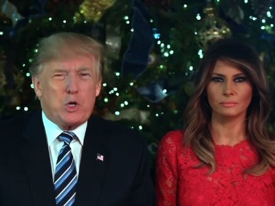 President Trump, Melania Give Christmas Greeting