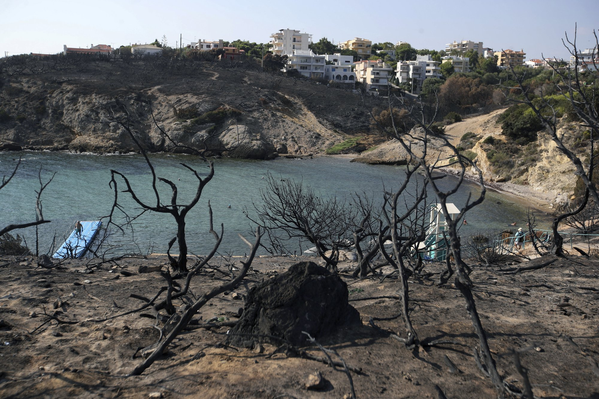 Official death toll from Greek fire raised to 87, 1 missing