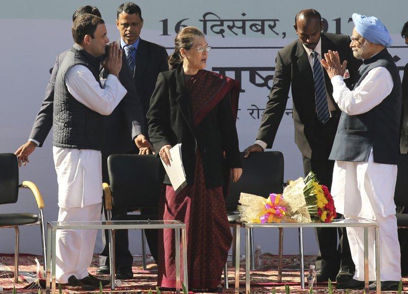 Rahul Gandhi, Manmohan Singh, Sonia Gandhi