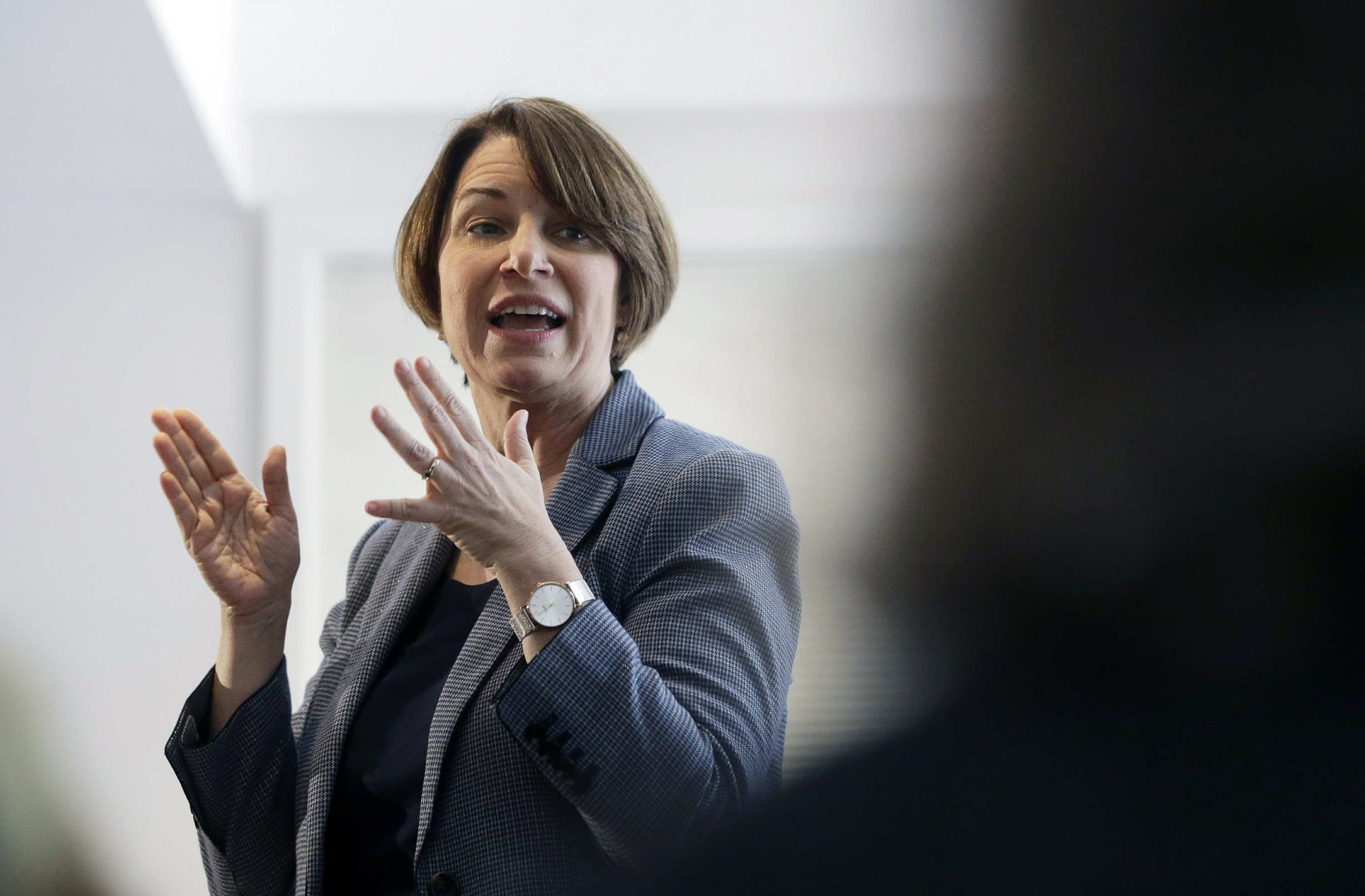 Klobuchar defends her record on regulating medical devices