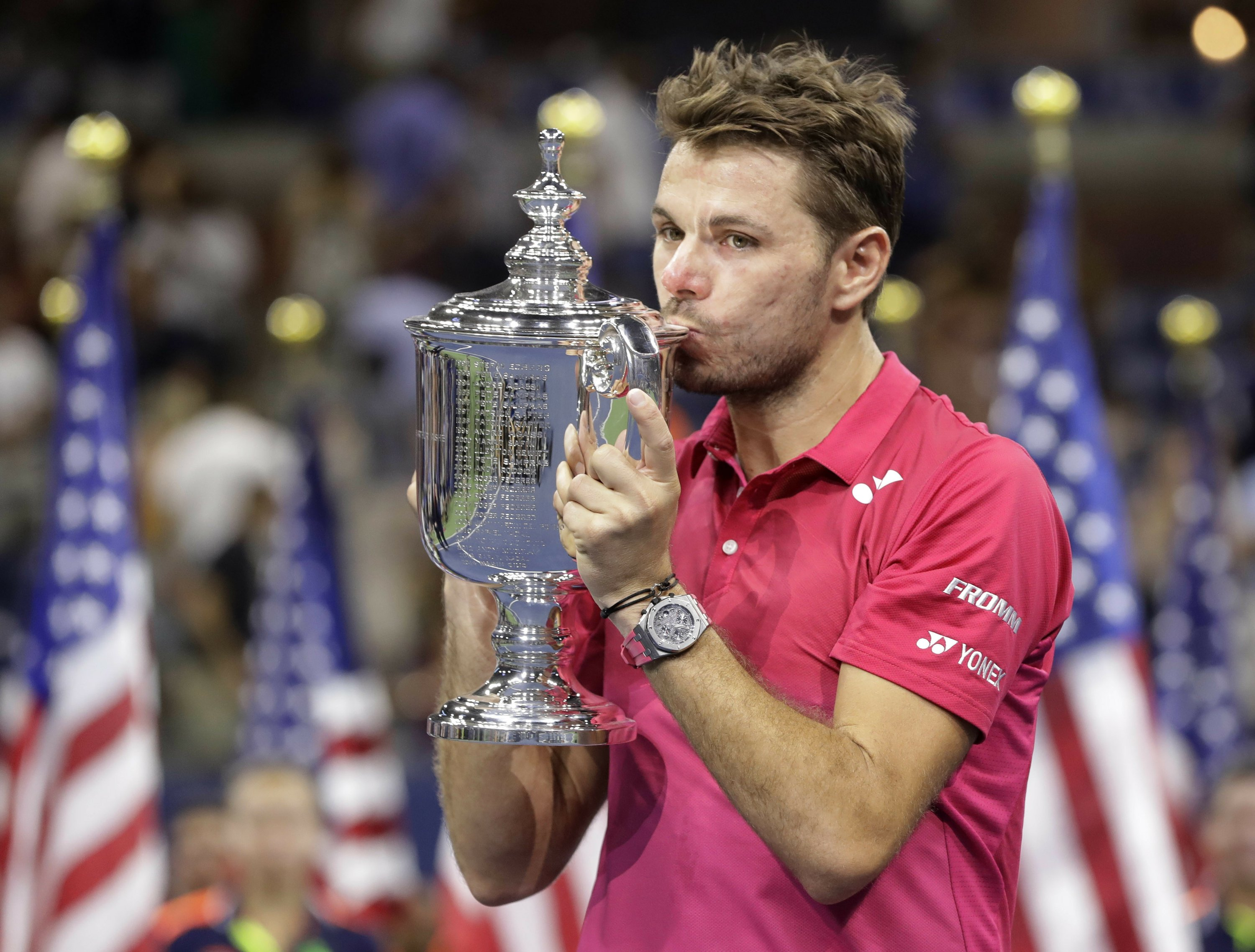 The Latest: US Open champ Wawrinka notes 9/11 in victory