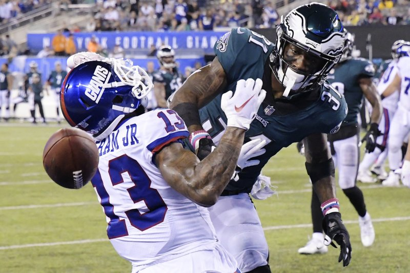 ae4c532fa Beckham makes scene, Giants drop to 1-5 with loss to Eagles