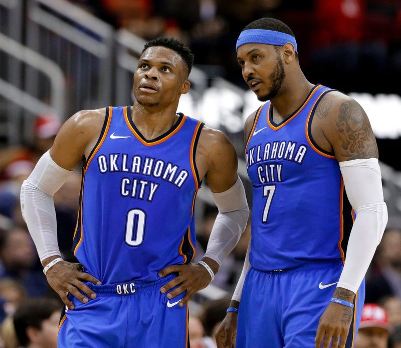 Russel Westbrook, Carmelo Anthony