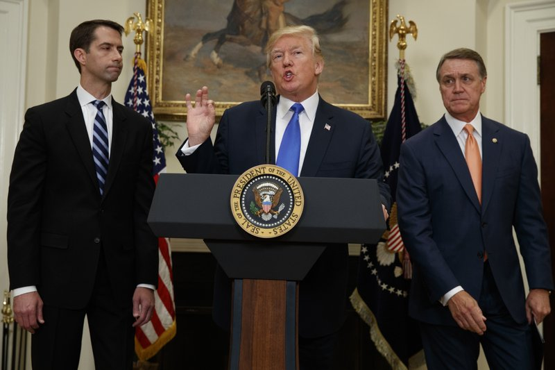 Donald Trump, Tom Cotton, David Perdue