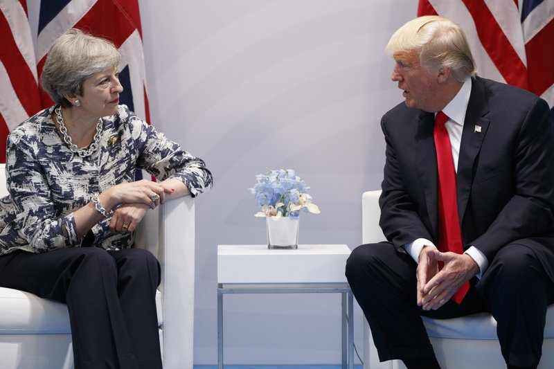Donald Trump, Theresa May
