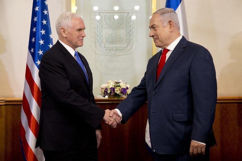 Mike Pence, Benjamin Netanyahu