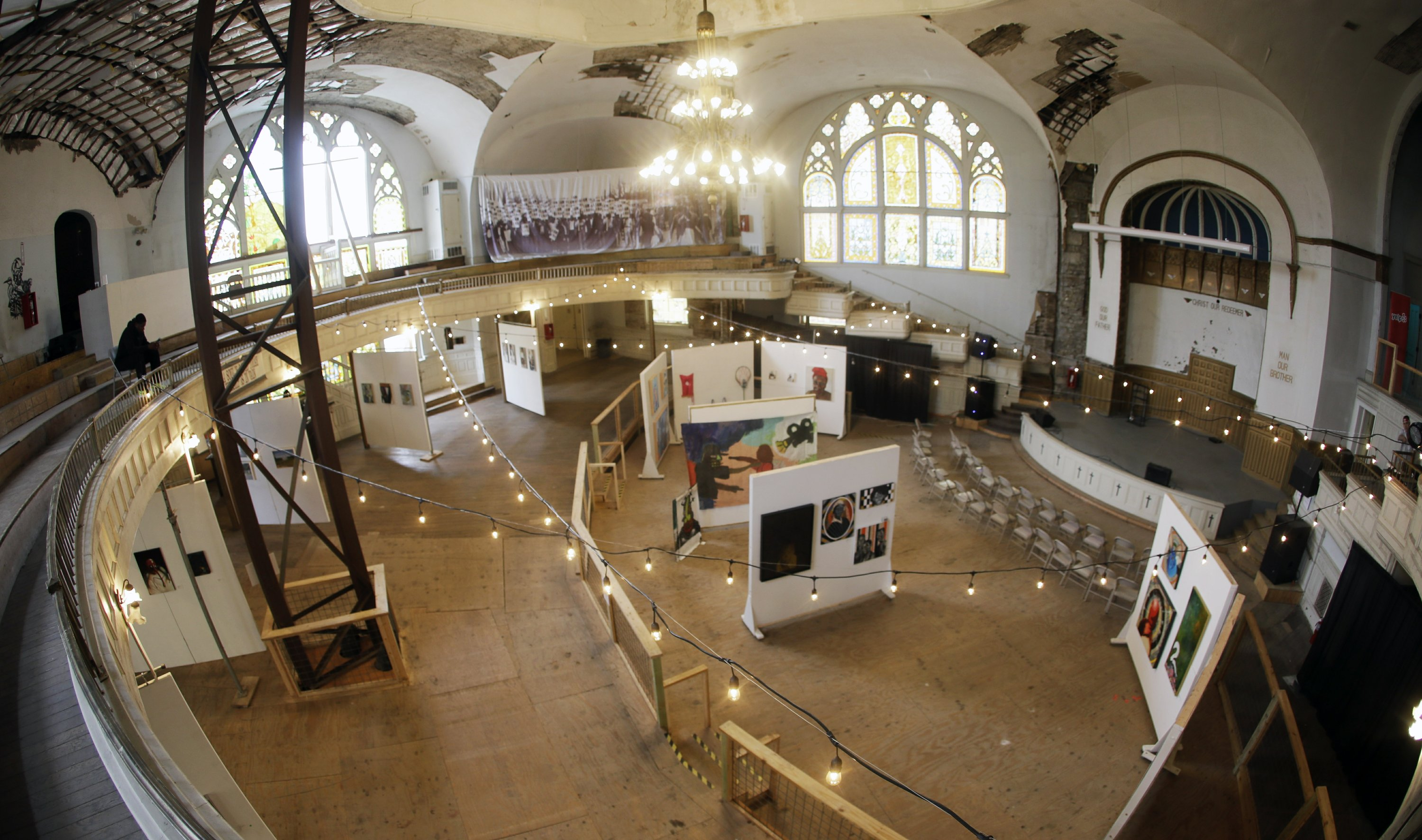 Neglected US civil rights church is returned to its glory