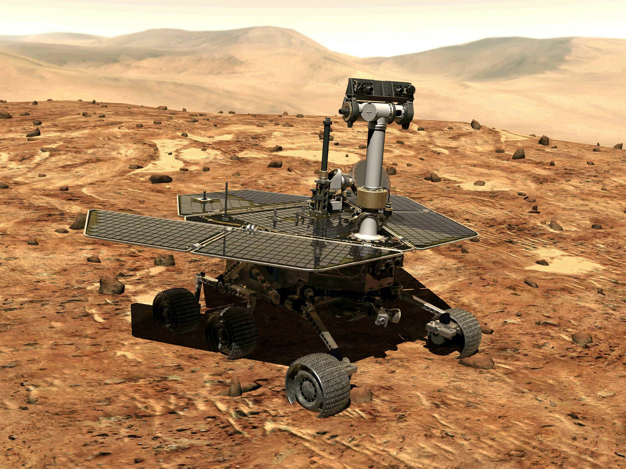 NASA's storm-silenced rover marks 15th anniversary on Mars