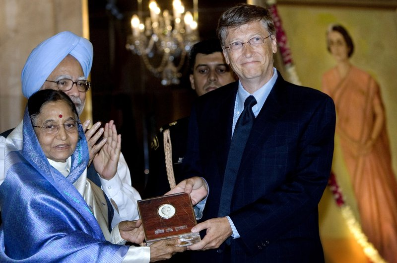 Pratibha Patil, Bill Gates, Manmohan Singh