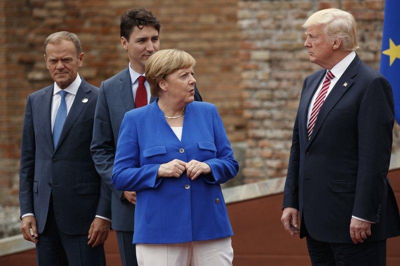 Trump criticizes German trade surplus, again