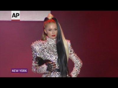 Paris Hilton struts runway as Cruella De Vil in The Blonds show