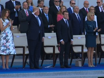 Trump Salutes US Troops in Bastille Day Parade