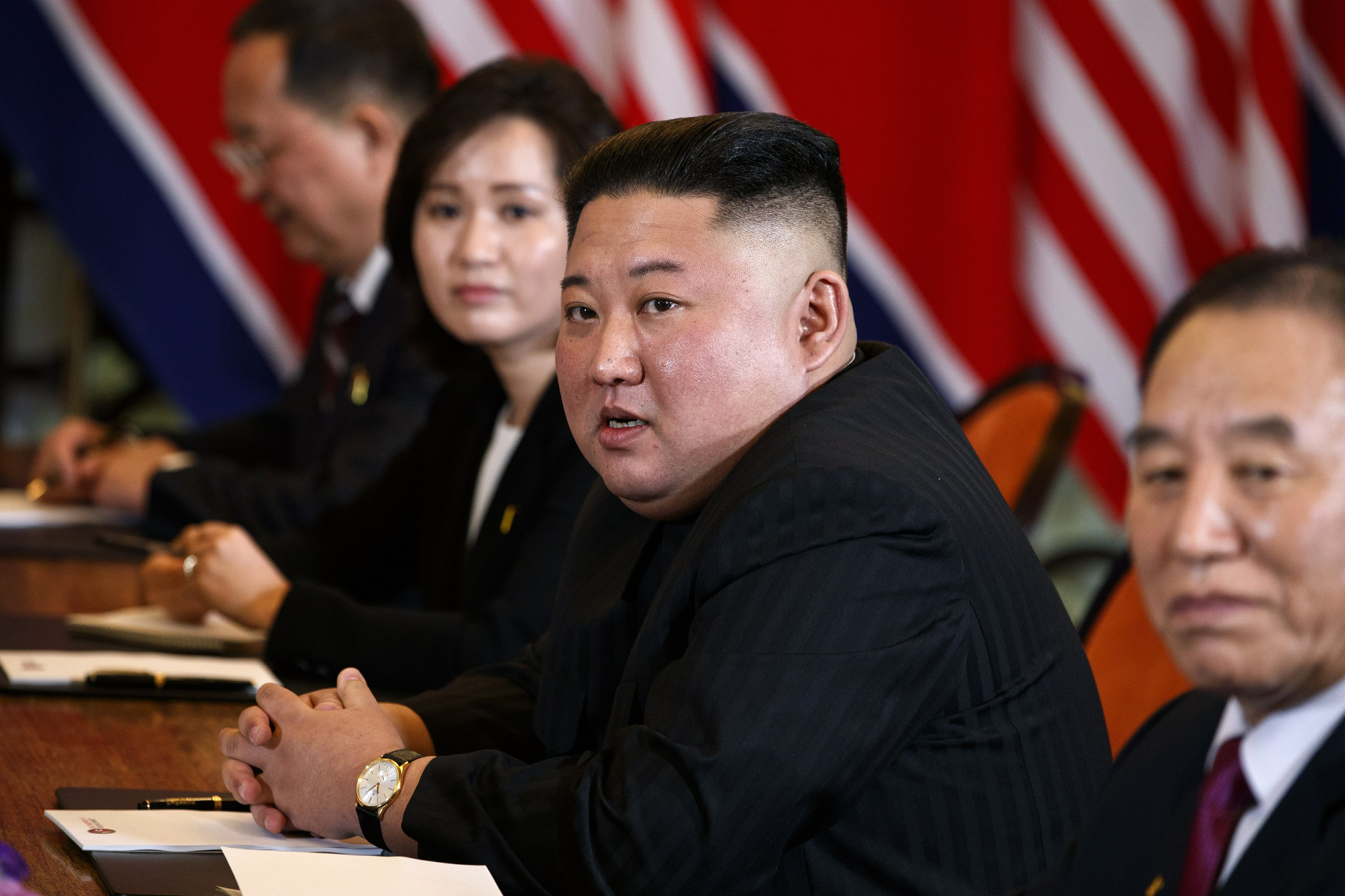In A Summit First Kim Jong Un Takes Us Media Questions