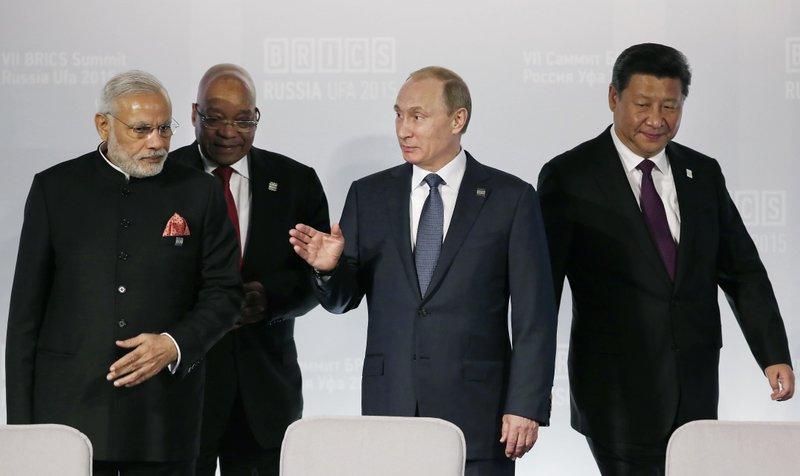 Vladimir Putin, Narendra Modi, Xi Jinping, Jacob Zuma