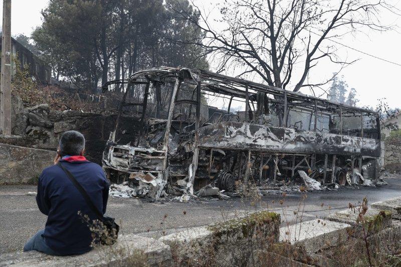 Fire in Pontevedra
