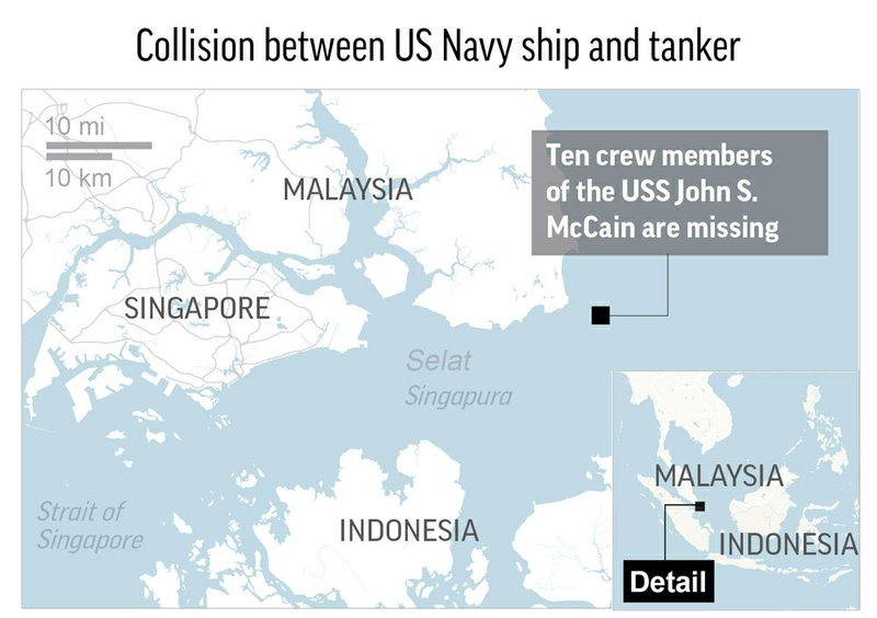 SINGAPORE SHIP COLLISION