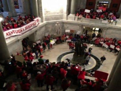 Kentucky Teachers Protest Pension Bill