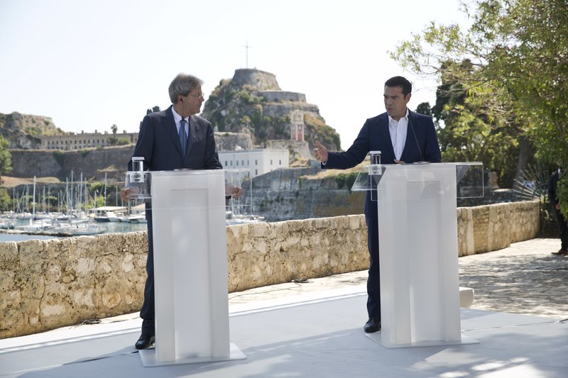 Alexis Tsipras, Paolo Gentiloni