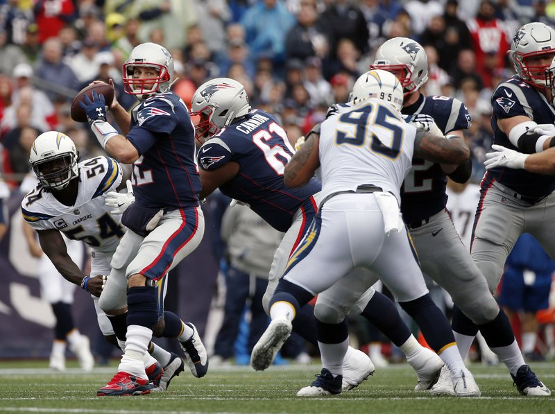 Tom Brady, Melvin Ingram, Tenny Palepoi,