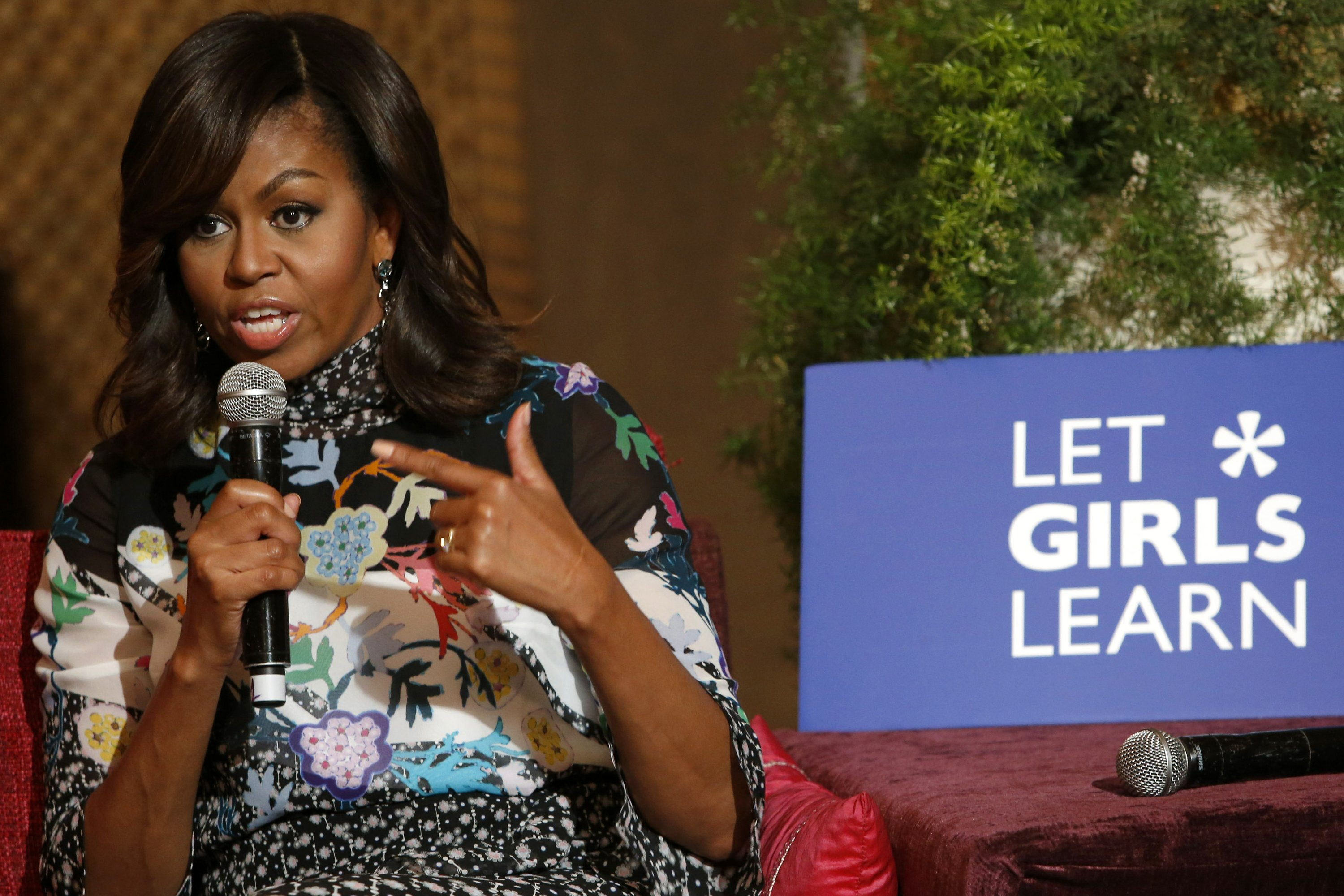 US first lady promotes learning to empower Moroccan girls