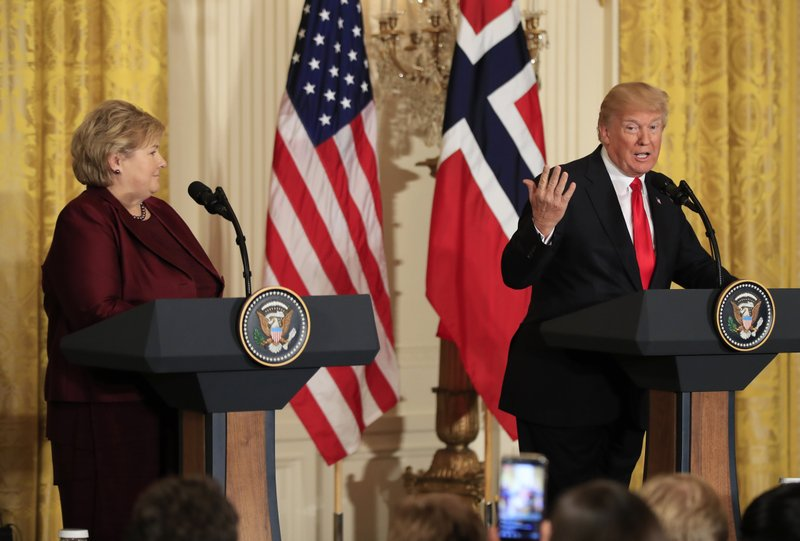 Norway's PM makes business case of 'green economy' to Trump