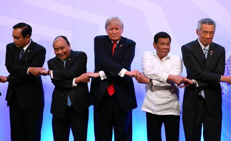 Donald Trump, Rodrigo Duterte, Nguyen Xuan Phuc, Prayuth Chan-ocha