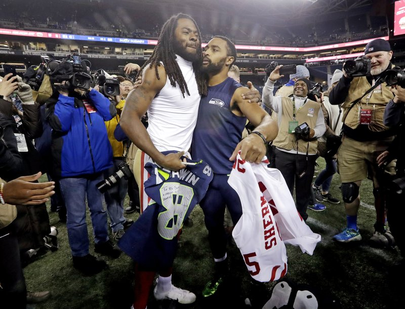 separation shoes caeeb c94e2 Sherman's return to Seattle mostly uneventful in 49ers loss