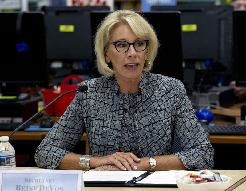 Image result for Education Secretary DeVos Says She Has 'No Intention' of Using Federal Funds to Arm Teachers