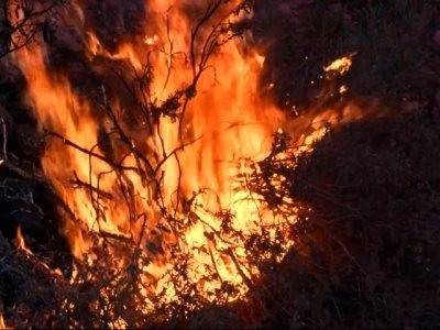 Raw: Gains Made Against Southern Calif. Wildfire
