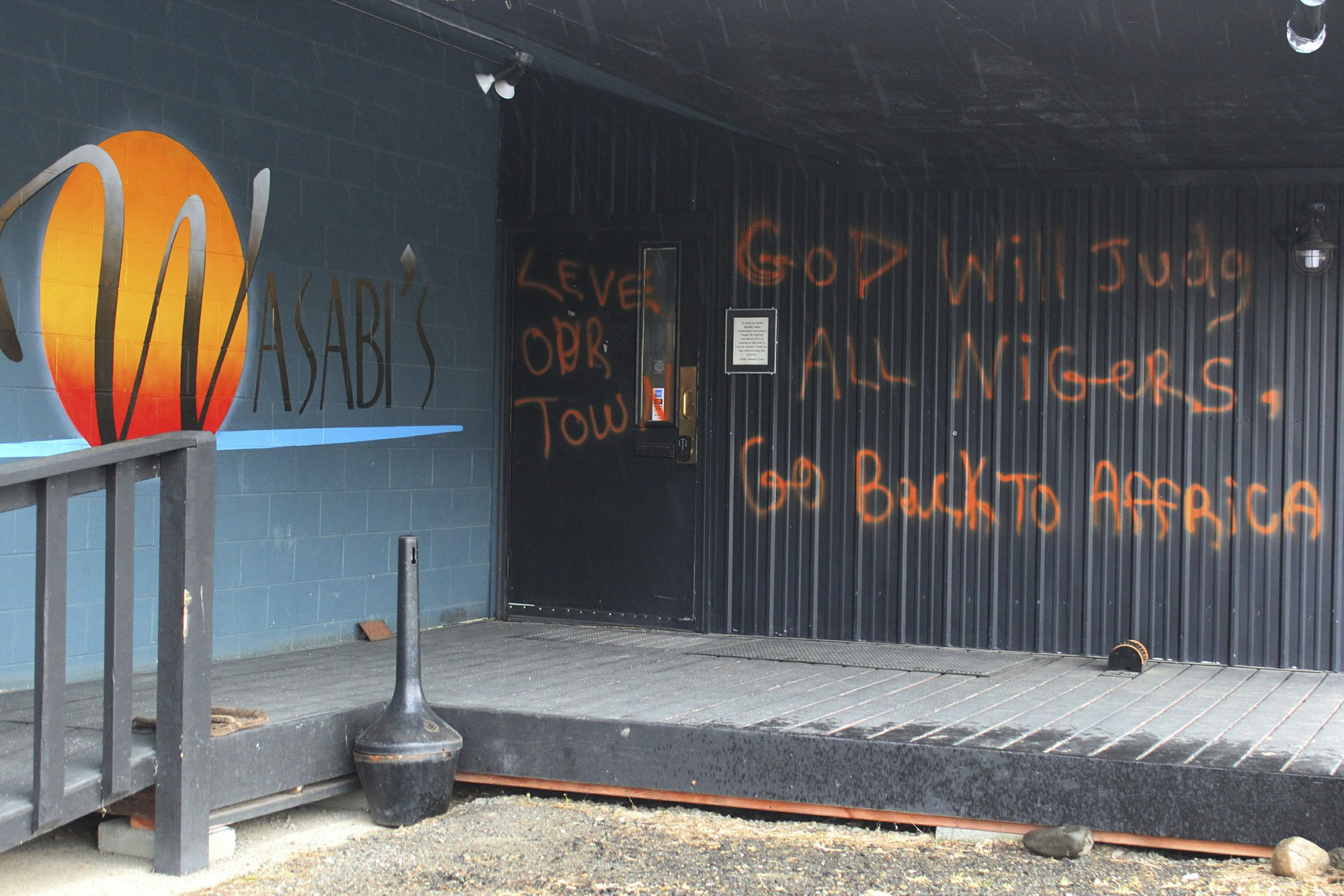 Alaska bistro defaced by racist graffiti, reference to Trump