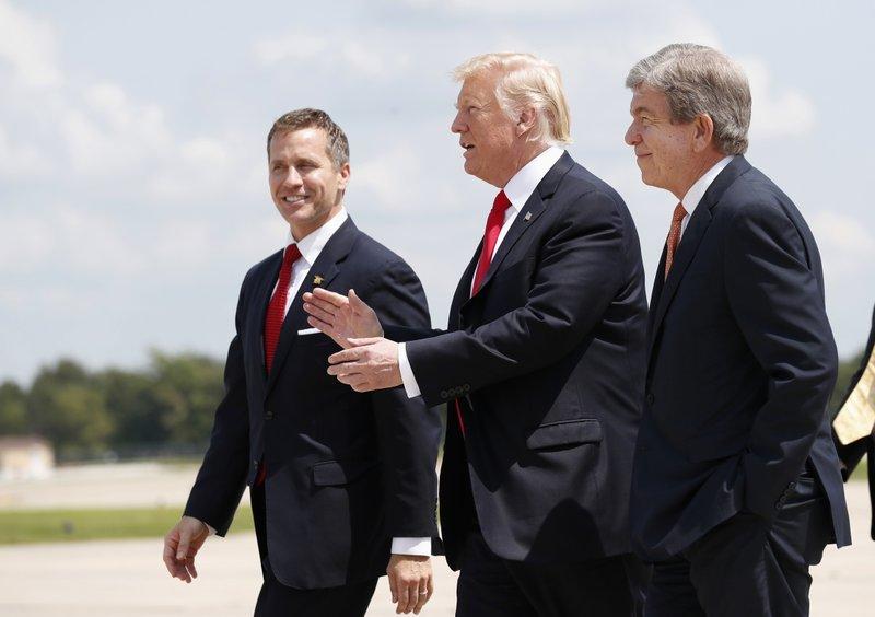 Donald Trump, Eric Greitens, Roy Blunt