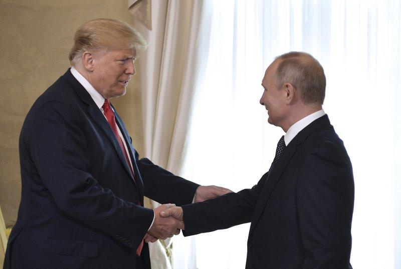 Russian President Putin and US President Trump meet in Helsinki