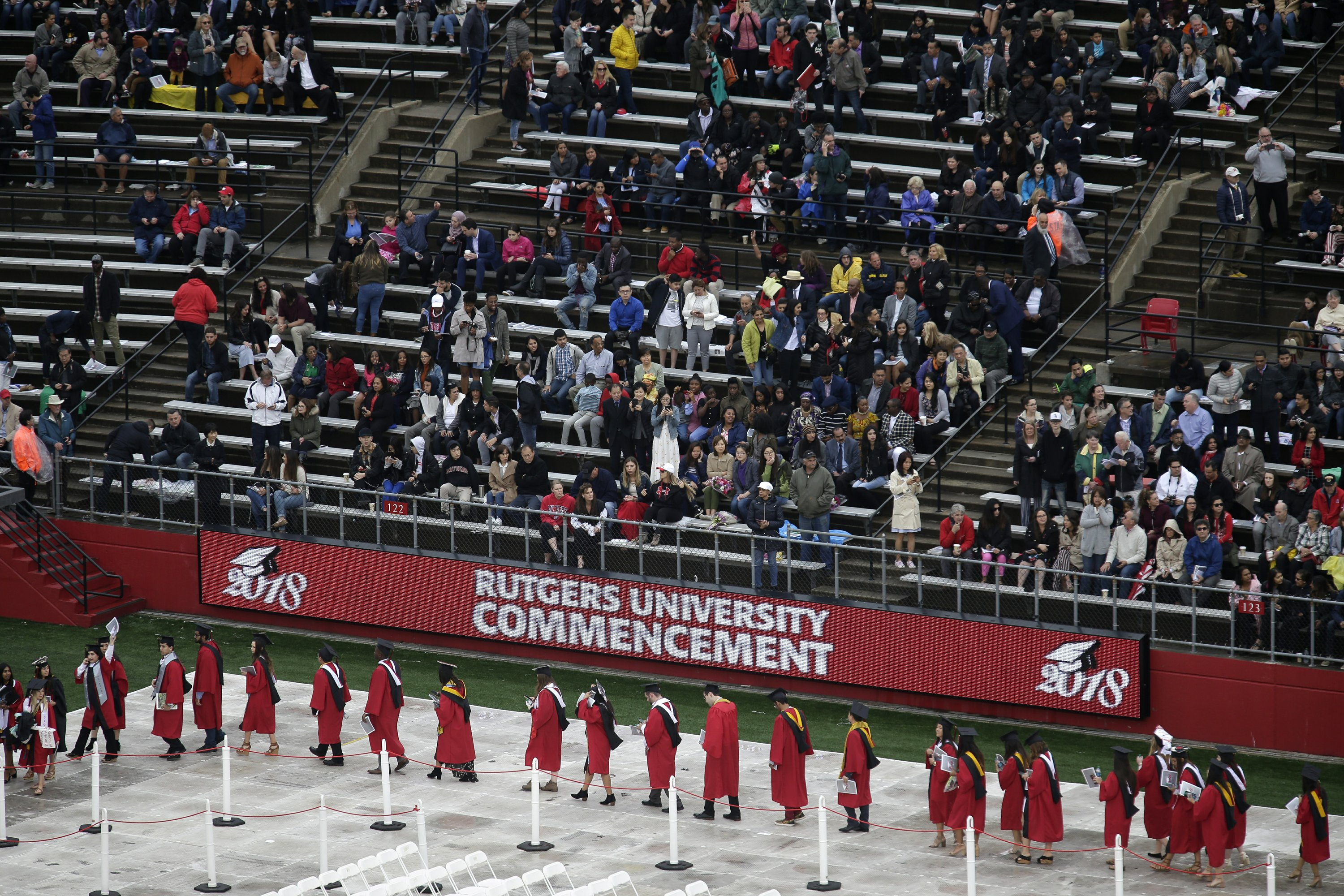 Thousands receive diplomas at Rutgers graduation ceremony