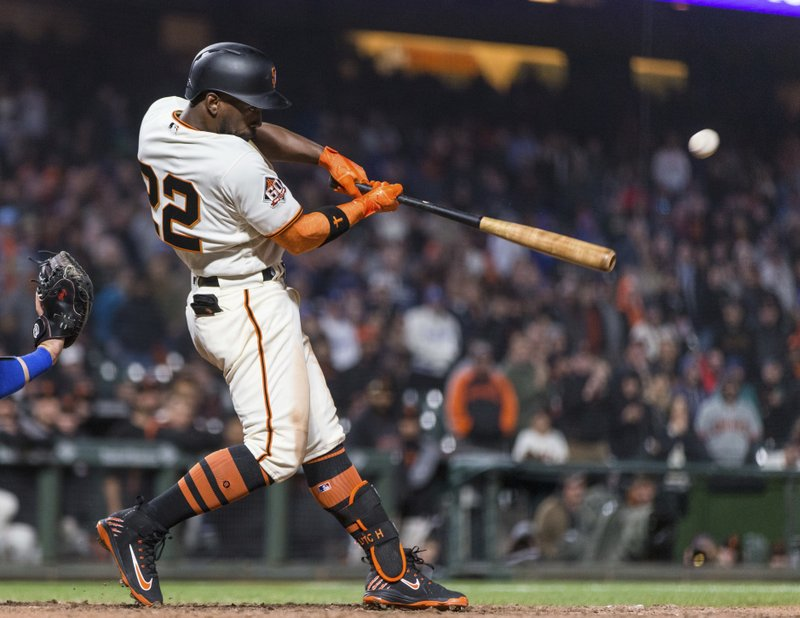 competitive price fd3ab 23a5d McClutch! McCutchen HR in 14th lifts Giants over Dodgers 7-5