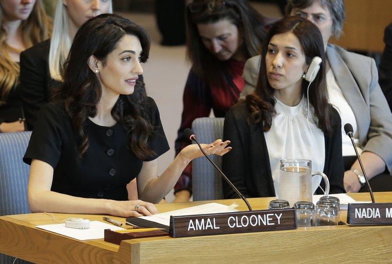 Amal Clooney: Prosecute Islamic State extremists for rape