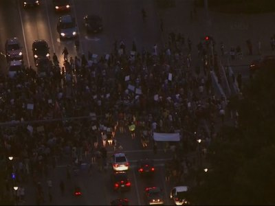 St. Louis Protesters March Into The Night