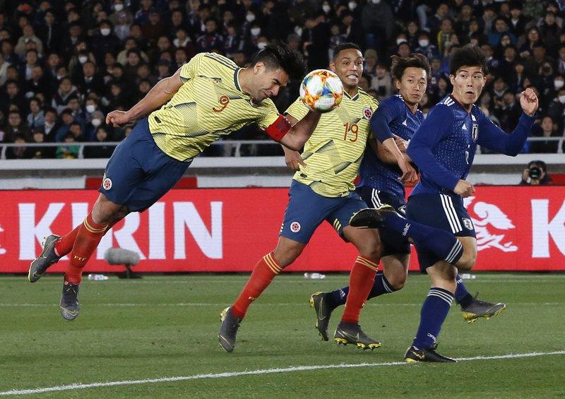 Falcao gives Colombia win in Japan, SKorea beats Bolivia
