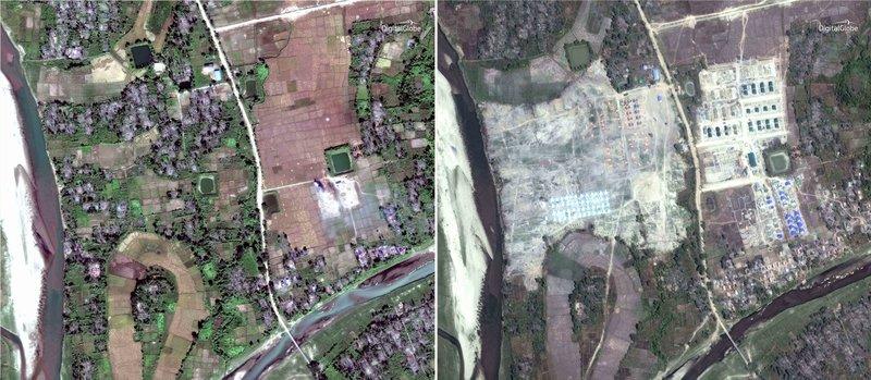 Myanmar Meratakan Desa Muslim Rohingya Yang Tersisa
