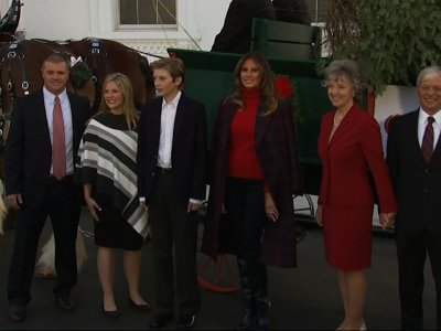 Melania Trump Welcomes WH Christmas Tree
