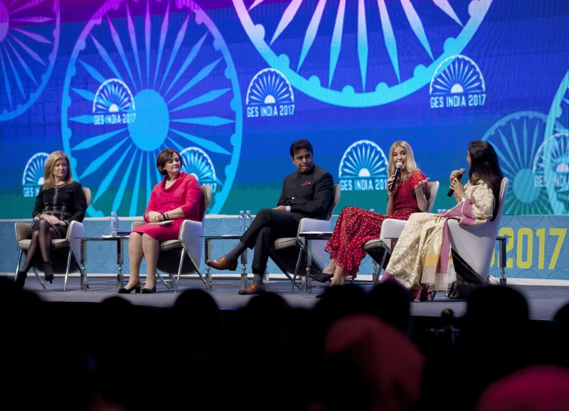 Ivanka Trump, Cherie Blair, Karen Quintos, K.T. Rama Rao, Chandra Kochhar