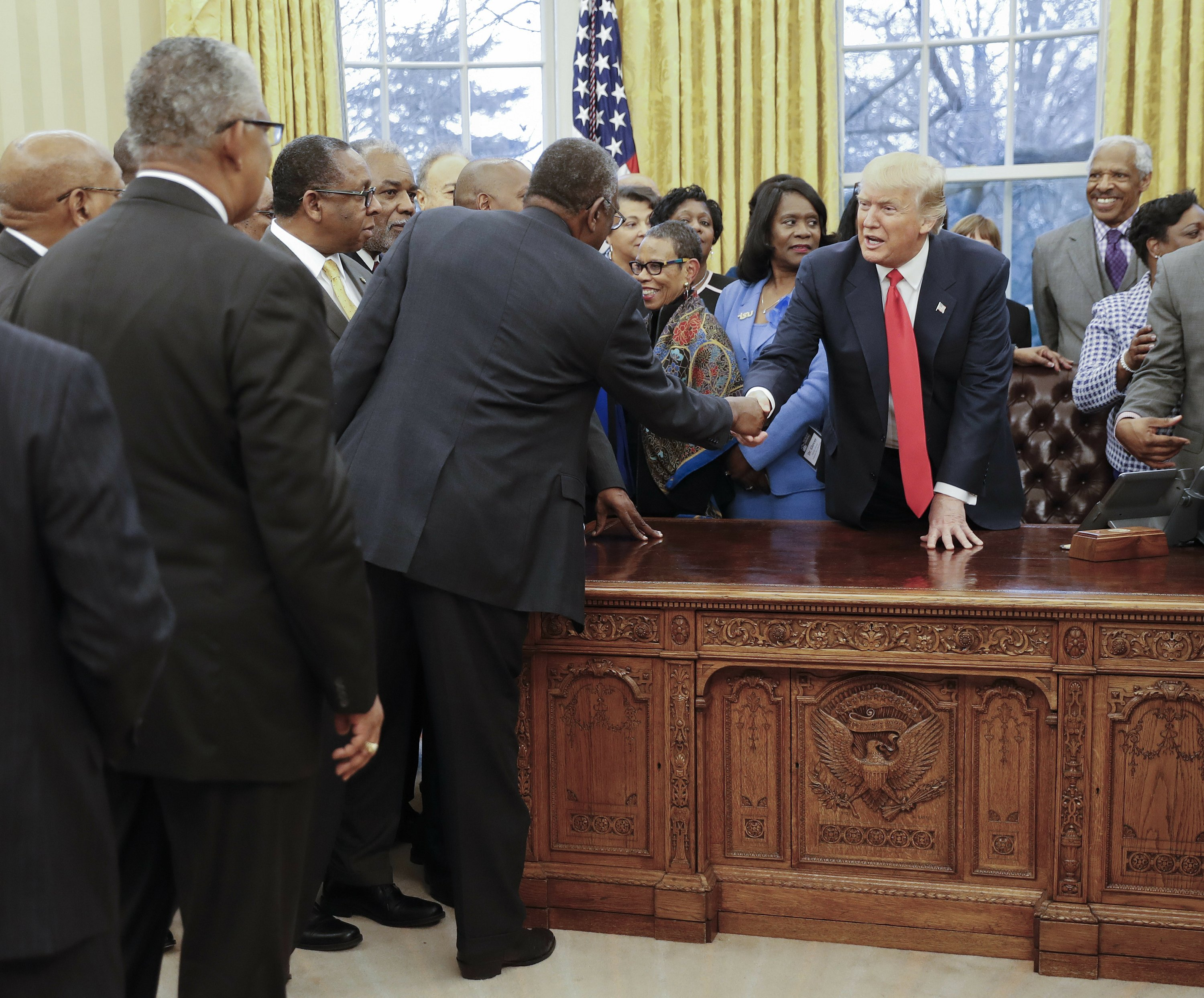 The Latest: Trump meets with leaders of black colleges