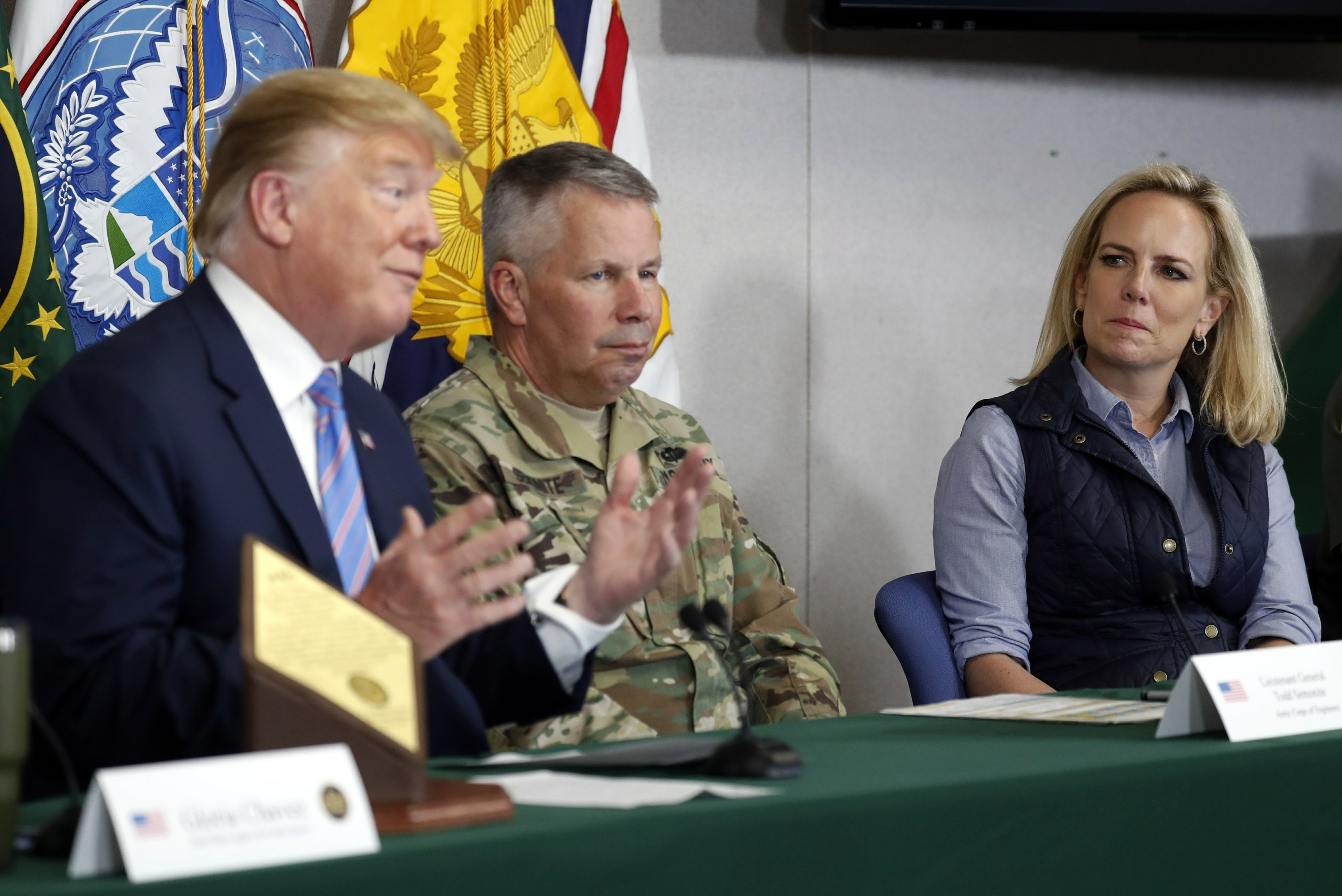 The Latest: Trump downplays asylum claims at border